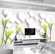 Fototapete 3D Effekt Stilvolle Lilienblumenliebe