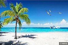 Fototapete 3D Effekt Strand Palmenlandschaft