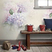 Fototapete 3D Effekt Tapete 3D Lila Blumen
