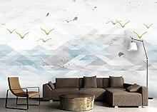 Fototapete 3D Effekt Tapete Abstrakte Berggipfel