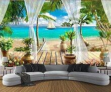 Fototapete 3D Effekt Tapete Balkon Mit Meerblick