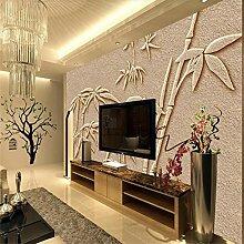 Fototapete 3D Effekt Tapete Bambus-Geprägter