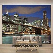 Fototapete 3D Effekt Tapete Brooklyn Bridge, USA