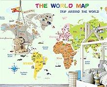 Fototapete 3D Effekt Tapete Cartoon Weltkarte