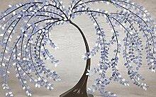 Fototapete 3D Effekt Tapete Eleganter Lila Baum