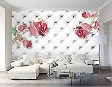 Fototapete 3D Effekt Tapete Extravagant Rosa Rosen