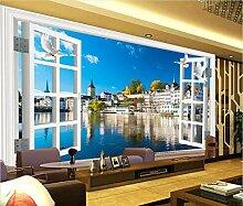Fototapete 3D Effekt Tapete Fenster-europäische