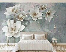 Fototapete 3D Effekt Tapete Geprägte Modeblumen