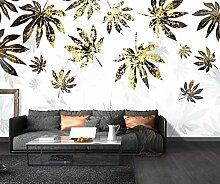 Fototapete 3D Effekt Tapete Goldblatt Moderne