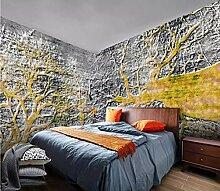 Fototapete 3D Effekt Tapete Goldene Hintergrund