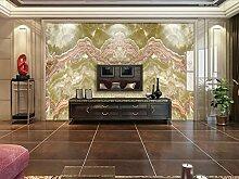 Fototapete 3D Effekt Tapete Goldene Marmor