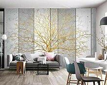 Fototapete 3d Effekt Tapete Goldener Großer Baum