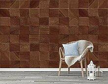 Fototapete 3D Effekt Tapete Haus Mit Holz
