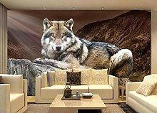 Fototapete 3D Effekt TapeteHd Wolf Stumpf 3D