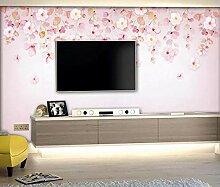 Fototapete 3D Effekt Tapete Kirschblüte, Blume,