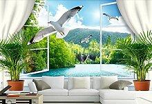 Fototapete 3D Effekt Tapete Landschaft Fenster