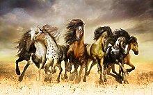 Fototapete 3D Effekt Tapete Laufende Pferde