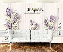 Fototapete 3D Effekt Tapete Lavendel Mit Einfacher