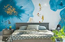 Fototapete 3D Effekt Tapete Lotusfisch Mit Blauer