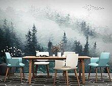 Fototapete 3D Effekt Tapete Nebelhafte Kiefernwald