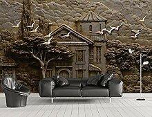 Fototapete 3D Effekt Tapete Relief Forest Hut Big