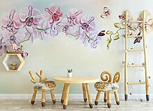 Fototapete 3D Effekt Tapete Rosa Phalaenopsis