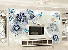 Fototapete 3D Effekt Tapete Schmuck Blüht Luxus