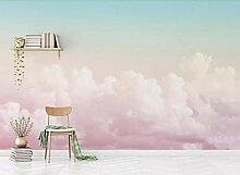 Fototapete 3D Effekt Tapete Schöner Rosa Himmel