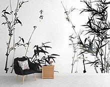 Fototapete 3D Effekt Tapete Schwarzweiss-Bambus