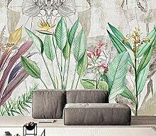 Fototapete 3D Effekt Tapete Tropische Pflanze Mit