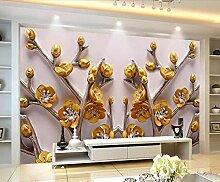 Fototapete 3D Effekt Tapete Tv Mit Goldener