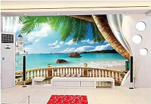 Fototapete 3D Effekt Tapete Wandbild Balkon Mit