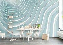 Fototapete 3D Effekt Tapete Wandbild XXL Blaue