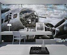 Fototapete 3D Effekt Tapete Wandbild XXL Flugzeug