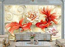 Fototapete 3D Effekt Tapete Wandbild XXL Goldfisch
