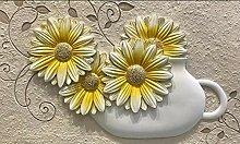 Fototapete 3D Effekt Tapete Wandbild XXL Vase Mit