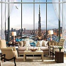Fototapete 3D Effekt Tapete Windows Burj Khalifa
