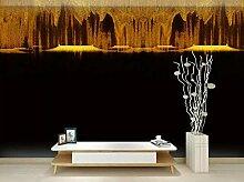 Fototapete 3d Effekt Tapeten Abstrakte Goldene