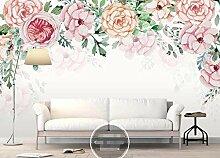 Fototapete 3D Effekt Tapeten Aquarellrosa Blumen