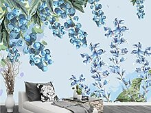 Fototapete 3D Effekt Tapeten Beerenblaubeerblume