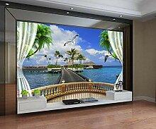 Fototapete 3D Effekt Tapeten Fenster, Meer,