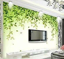 Fototapete 3D Effekt Tapeten Grüne Blätter,