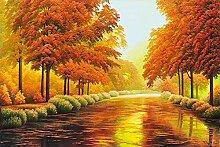 Fototapete 3d Effekt Tapeten Herbstlandschaft,