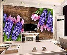 Fototapete 3D Effekt Tapeten Lila Blumen Und
