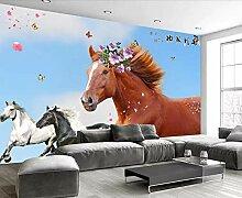 Fototapete 3D Effekt Tapeten Pferd, Das Moderne