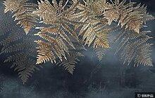 Fototapete 3d Effekt Tapeten Retro-Pflanze Tapete