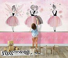 Fototapete 3D Effekt Tapeten Rosa Ballett Umarmt