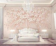 Fototapete 3D Effekt Tapeten Rose Gold Blume Noch