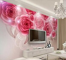 Fototapete 3D Effekt Tapeten Rote Rose Romantik