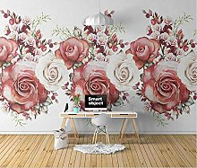 Fototapete 3D Effekt Tapeten Rote Rosenblume